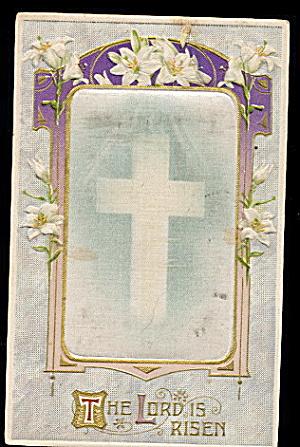 Winsch Silk Inset Easter 1910 Postcard (Image1)