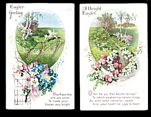 2 Ellen Clapsaddle 1922 Easter Postcards