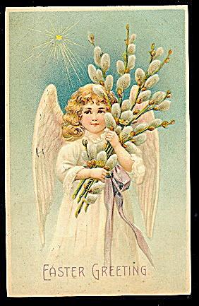 Easter Cherub Angels 1908 Postcard - Nice! (Image1)