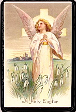 Lovely Holy Easter Angel 1907 Postcard (Image1)