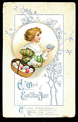 1910 Ellen Clapsaddle Girl Easter Postcard