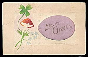 Silk Egg Inset Easter 1910 Postcard (Image1)