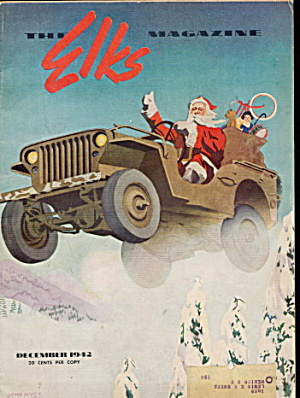 """the Elks"" Magazine December 1942 Santa Claus"