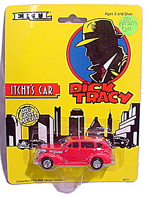 Ertl 'dick Tracy' Itchy's Car Mint On Card