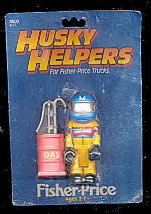 1984 Fisher-Price Husky Helpers Race Car Driver on Card (Image1)