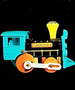 1959 Fisher Price #642 Dinkey Train Pull Toy