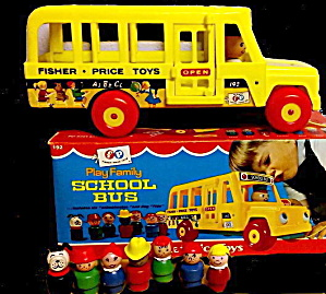 1966 Fisher Price School Bus With Original Box
