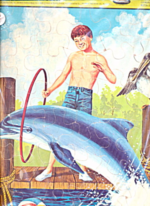 1966 Flipper The Dolphin Tray Puzzle