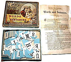 Milton Bradley 'Words and Sentences' Game, ca 1905 (Image1)