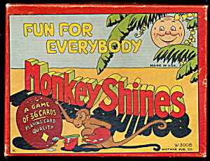 "Ca 1930 ""monkey Shines"" Card Game"