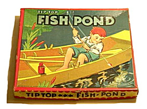 'tip Top Fish Pond' Milton Bradley 1930s Game