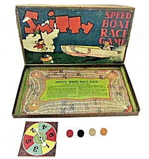1930s Milton Bradley Smitty Speed Boat Race Game (Image1)