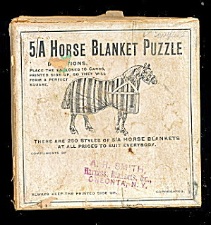 1905 5/a Horse Blanket Puzzle