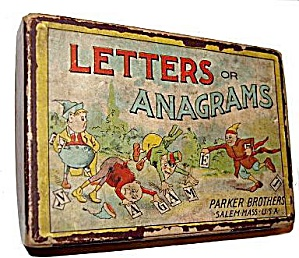 Early 1900s 'Letters or Anagrams' Parker Brothers Game (Image1)
