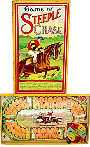 Steeple Chase Board Game, Milton Bradley Co.-springfiel