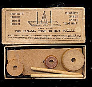 The Panama Cone Or Disc Puzzle, Early 1900s