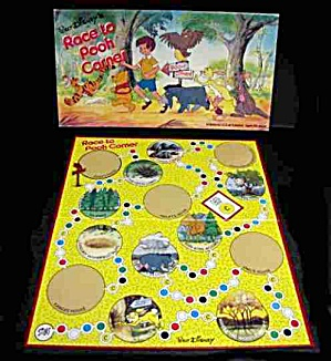 1975 Race to Pooh Corner Board Game - Walt Disney (Image1)