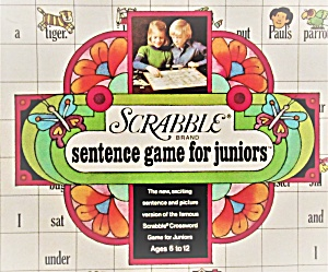 1973 Scrabble For Juniors Board Game