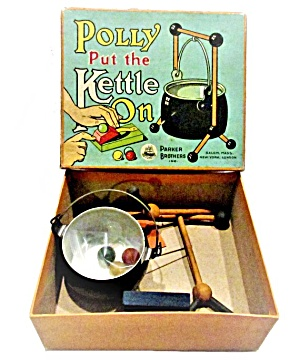 1923 Parker Brothers Polly Put The Kettle On Game