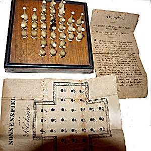 1880s Nonnenspiel (German Solitaire) with Ivory Pieces (Image1)