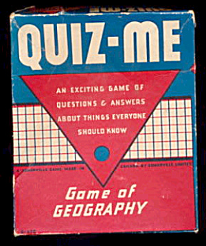 'Quiz-Me' 1930s Game of Geography (Image1)