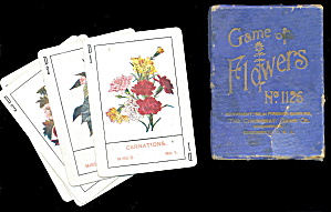 1899 #1126 'game Of Flowers' Fireside Game Co
