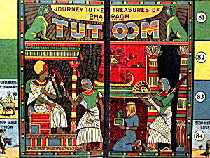 1923 Journey To The Treasures Of Pharaoh Game Board