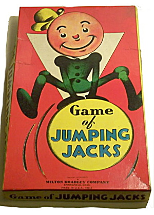 "1937 ""Jumping Jacks"" Milton Bradley Game (Image1)"