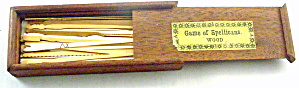 Ca 1900 'spellicans' In Wood In Wooden Box Game