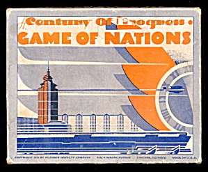 Century of Progress Game of Nations Fair 1934 Game (Image1)