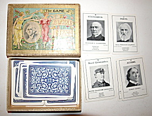 1890s 'the Game Of Famous Men' Parker Bros Game