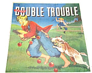 1941 Whitman Double Trouble Vintage Board Game