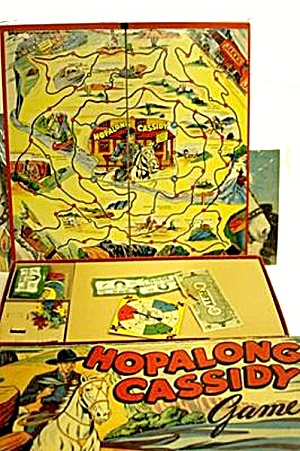 Hopalong Cassidy Board Game by Milton Bradley - ca 1950 (Image1)
