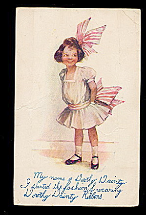 Lovely 1907 Dorothy Dainty Ribbons Advertising Postcard