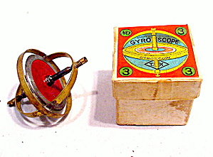 1930s Japan Gyroscope In Original Box