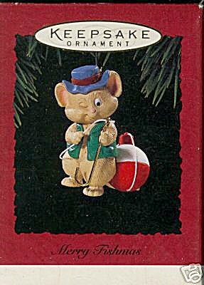 Hallmark Keepsake 1994 'Merry Fishmas' Ornament (Image1)