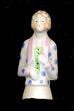 1920s Bisque/porcelain Foreign Art Deco Half Doll