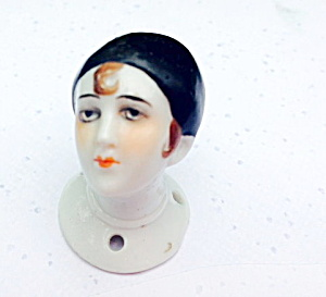 1920s Porcelain Foreign Art Deco Half Doll Head
