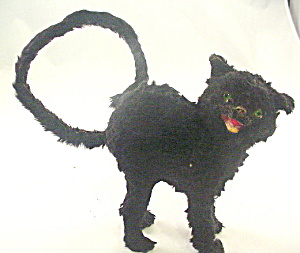Early 1900s Glass Eyes Black Spiteful Cat Toy (Image1)