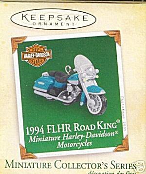 Hallmark 1994 FLHR Harley Davidson Motorcycle Ornament (Image1)