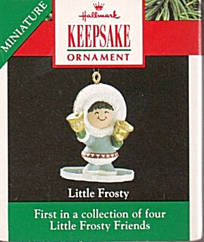 Hallmark Keepsake 1990 'Little Frosty' Ornament (Image1)