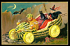 1908 Halloween Postcard Tucks Devil & Jol