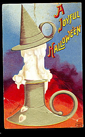 1912 Halloween Ellen Clapsaddle Candle Postcard