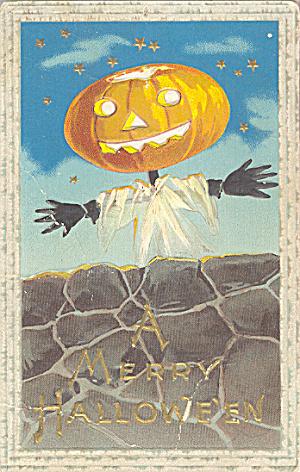 1910 Jack O'Lantern JOL Halloween Postcard (Image1)