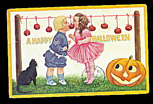 1908 Halloween Ellen Clapsaddle Children Postcard