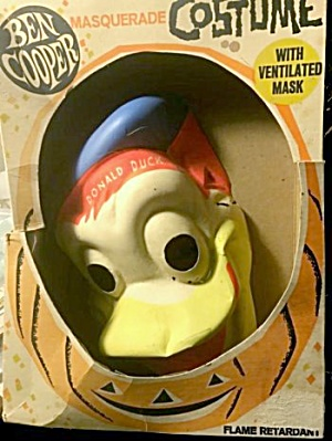 1960s Ben Cooper Donald Duck Halloween Mask In Box