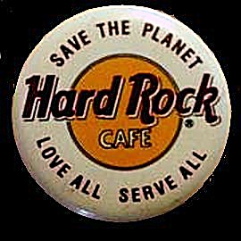 Hard Rock Cafe 'Love All, Serve All' Pin Back (Image1)