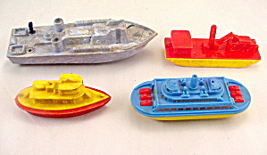 4 1950s Hard Plastic Renewal, etc Boats (Image1)