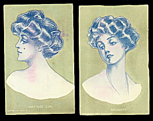 2 1907 D. Hillson Glamour Girls 'naughty' Etc Postcards