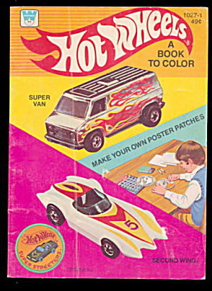 1978 Hot Wheels Coloring Book - Never Colored In